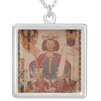 King Henry, illustration from the Manasse Silver Plated Necklace