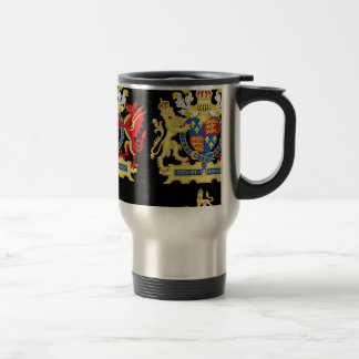 KING HENRY THE EIGHTH COAT OF ARMS TRAVEL MUG