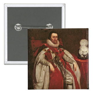 King James I of England and VI of Scotland, 1621 15 Cm Square Badge