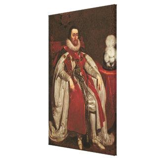 King James I of England and VI of Scotland, 1621 Canvas Print