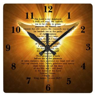 King James Version Psalm 23 Bible Scripture Wall Clocks