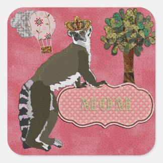 King Julian Mom's Pink Sticker