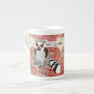 King Julian Red Damask Mom Mug Bone China Mug