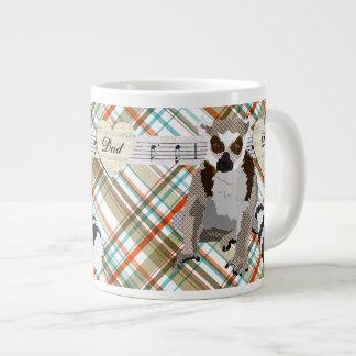 King Julian Vintage Plaid  Dad Mug Jumbo Mug