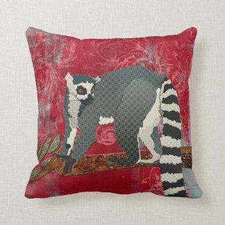King Jullian Red Grunge Damask Mojo Pillow Throw Cushions