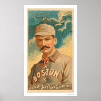 King Kelly Baseball Card 1888 Poster