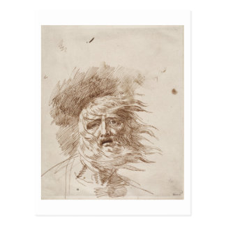 King Lear in the Storm (pen and bistre ink on pape Postcard
