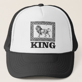 king lion box trucker hat