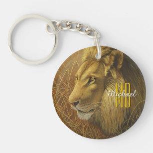 Metal Ring Key Chain Keychain Rasta King of Juddah Lion Crest Logo Symbol