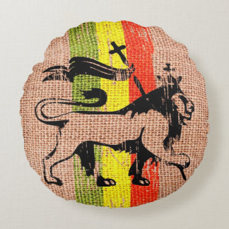 King lion round cushion