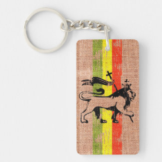 King lion Single-Sided rectangular acrylic key ring