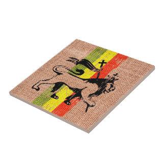 King lion small square tile
