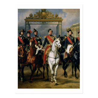 King Louis-Philippe (1773-1850) of France and his Postcard