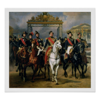 King Louis-Philippe (1773-1850) of France and his Poster