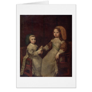King Louis XIV (1638-1715) as a child with Philipp Card