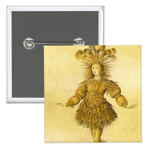 King Louis XIV of France Pinback Button