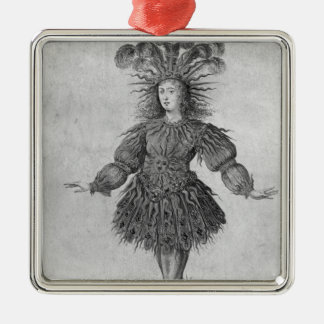 King Louis XIV of France Silver-Colored Square Decoration
