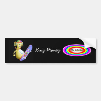 King Monty on Skate Board Bumper Sticker