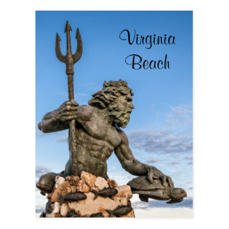 King Neptune Statue Postcard