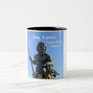 King Neptune, Virginia Beach, Virginia Two-Tone Coffee Mug
