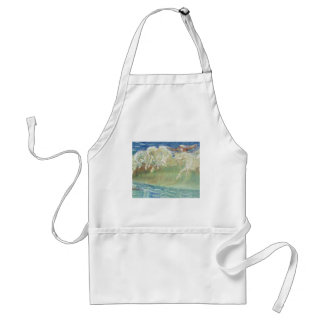 King Neptune's Horses On the Beach Standard Apron
