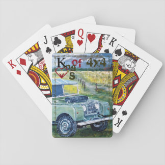 King Of 4x4 Hearts. Playing Cards