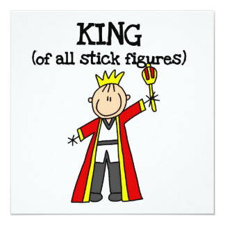 King of All Stick Figures Personalized Announcements