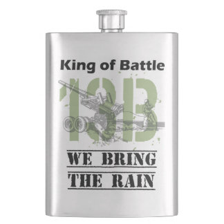 King of Battle - 13B We Bring the Rain Hip Flask