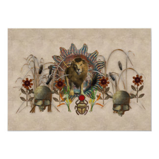 King Of Beasts 13 Cm X 18 Cm Invitation Card