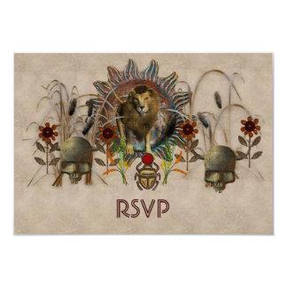 King Of Beasts 9 Cm X 13 Cm Invitation Card