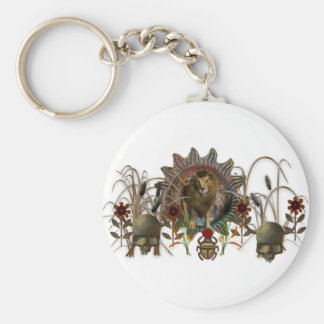 King Of Beasts Basic Round Button Key Ring