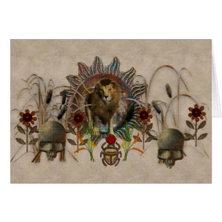 King Of Beasts Note Card
