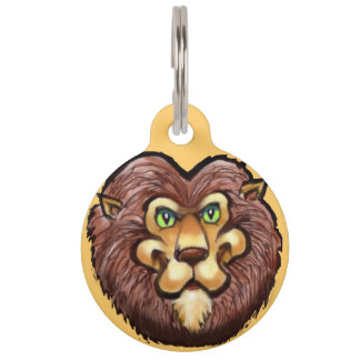 King of Beasts Pet Name Tag