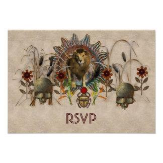 King Of Beasts Custom Invitation