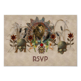 King Of Beasts 9 Cm X 13 Cm Invitation Card