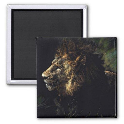 King of Beasts Fridge Magnet