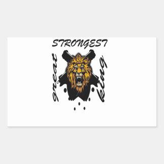 King Of Beasts Rectangular Sticker