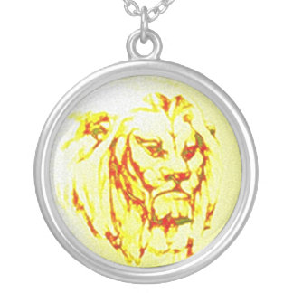 King of Beasts Round Pendant Necklace
