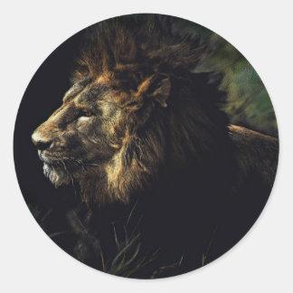 King of Beasts Round Sticker