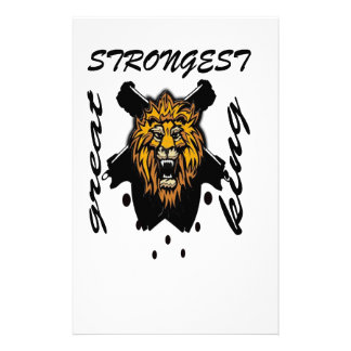 King Of Beasts Stationery Paper