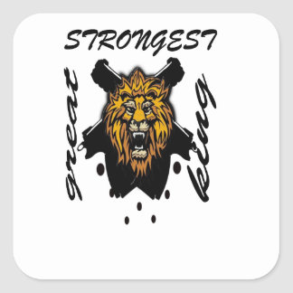 King Of Beasts Square Sticker