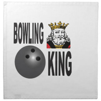 king of bowling napkin