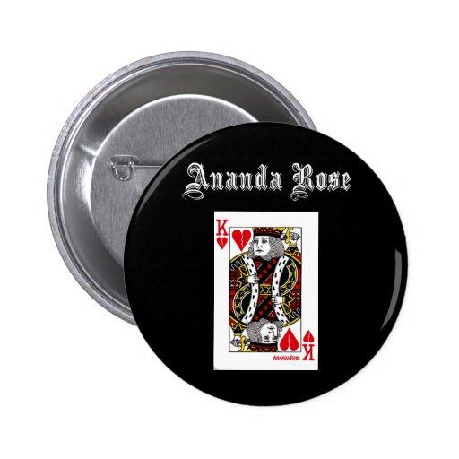 King of Broken Hearts Black Button