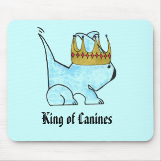 """""""King of Canines"""" Mouse Pad"""