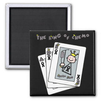 King of Chemo Square Magnet