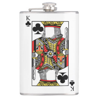 King of Clubs - Add Your Image Hip Flask