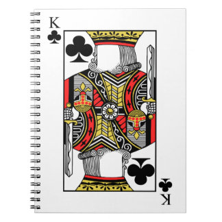 King of Clubs - Add Your Image Notebooks