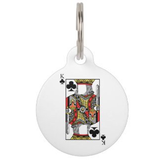 King of Clubs - Add Your Image Pet ID Tag