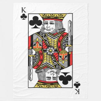 King of Clubs Fleece Blanket