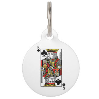 King of Clubs Pet Nametag